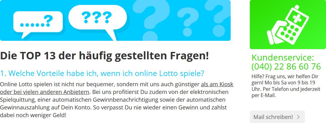 Lottohelden Kundenservice