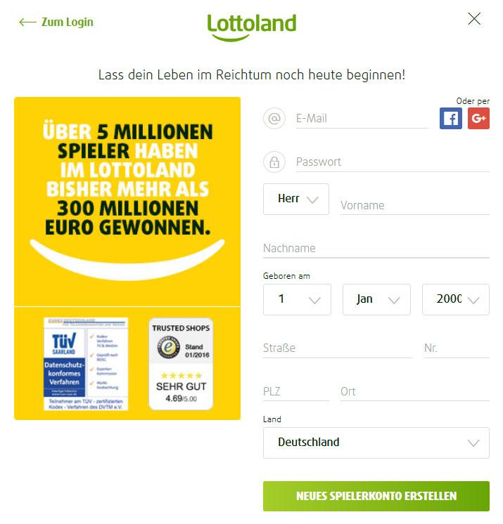 Lottoland Lastschrift